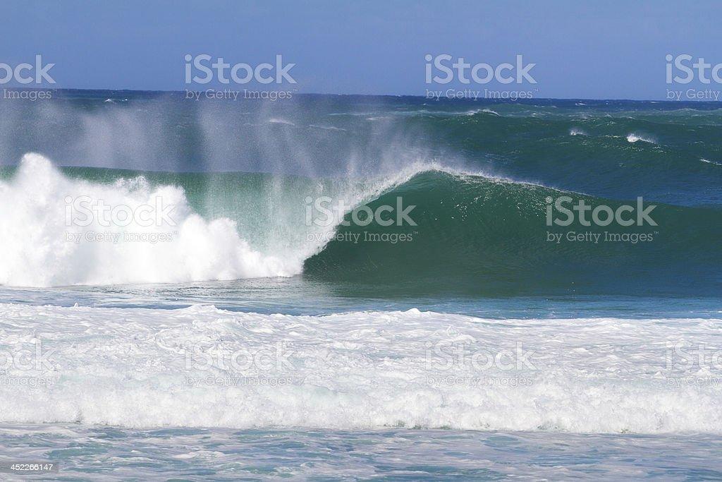 Giant Wave Break in Hawaii stock photo