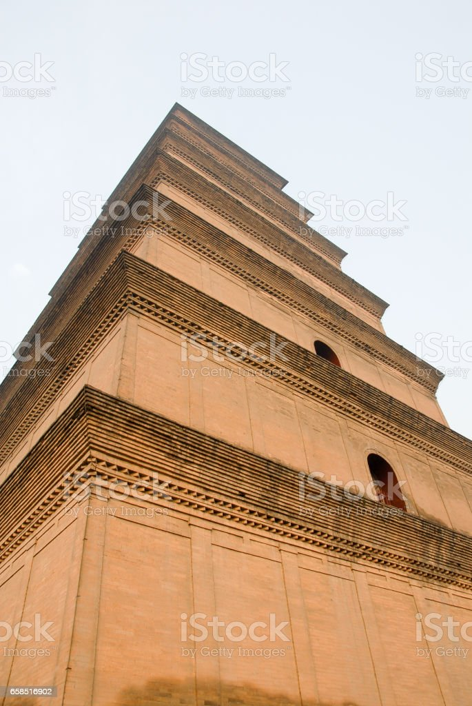 Giant Wild Goose Pagoda in the Morning, Xi'an, China stock photo