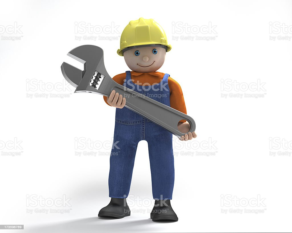 Giant Wrench royalty-free stock photo