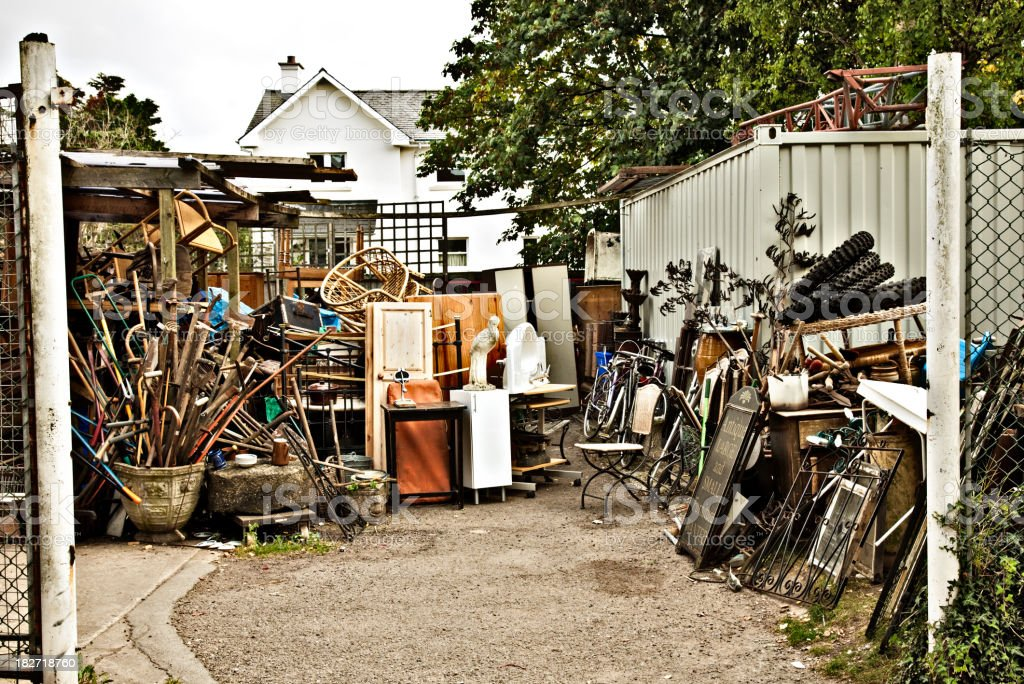 Giant Yard Sale stock photo