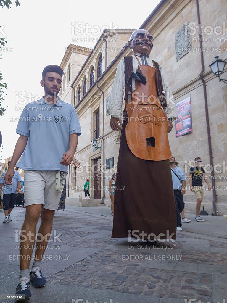 Zamora, Espanha – 29 de agosto de 2015: Cabeças gigantes e grandes foto royalty-free