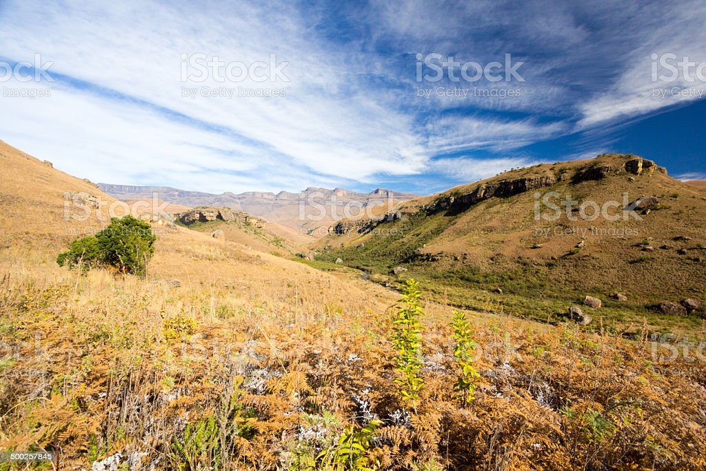 Giant's Castle in KwaZulu-Natal, South Africa royalty-free stock photo