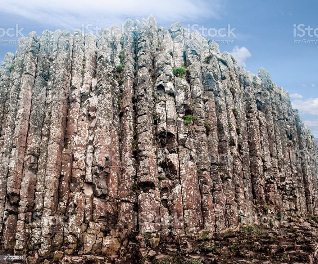 Giant's Causeway basalt columns, Northern Ireland stock photo