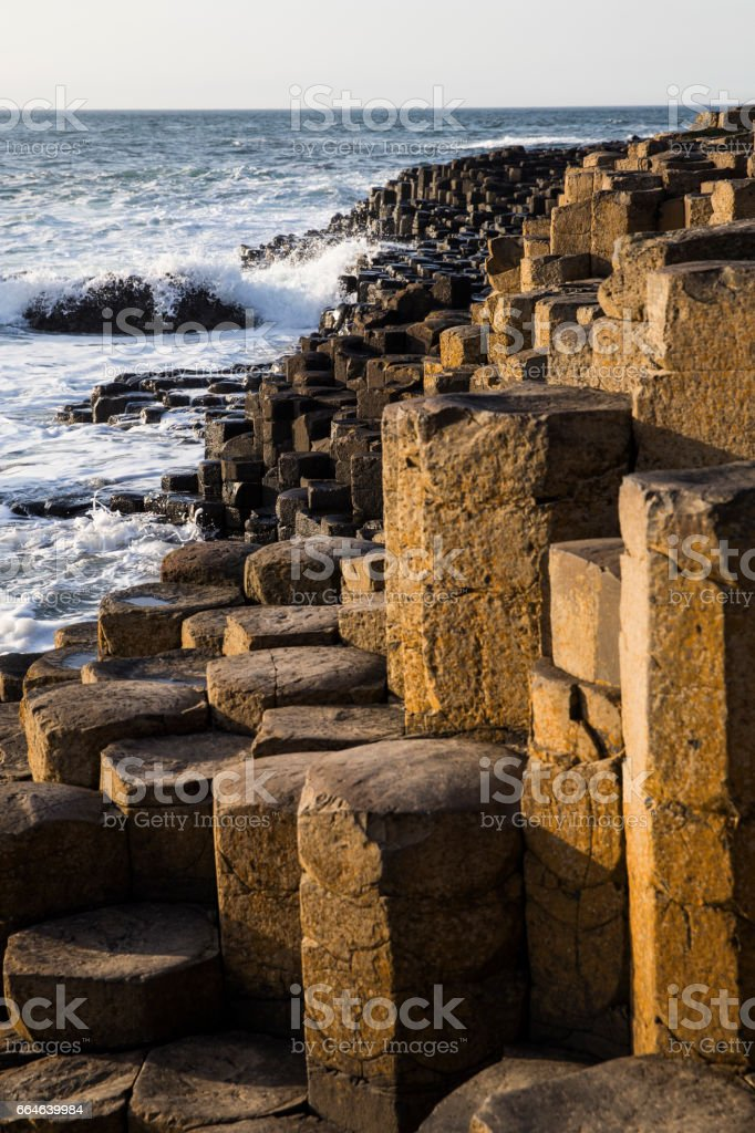 Giant's causeway detail in Northern Ireland stock photo