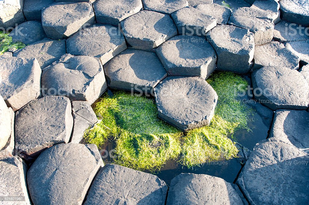 Giants Causeway geological formation in Northern Ireland stock photo