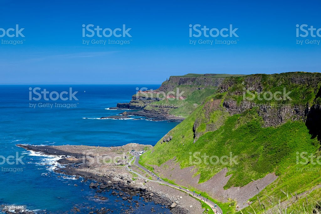 Giant's Causeway in Northen Ireland stock photo