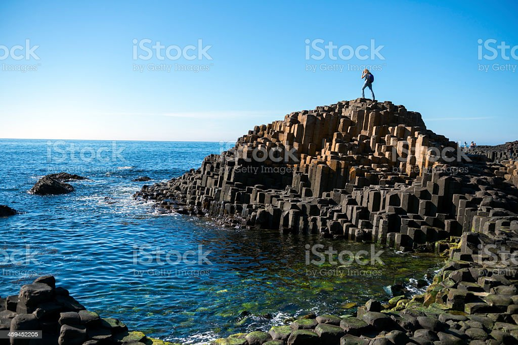 Giant's Causeway in Northern Ireland stock photo