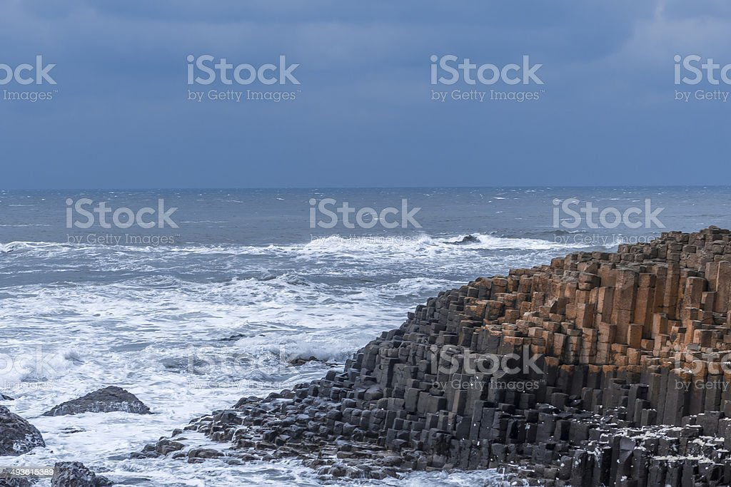 Giants Causeway in Northern Ireland stock photo