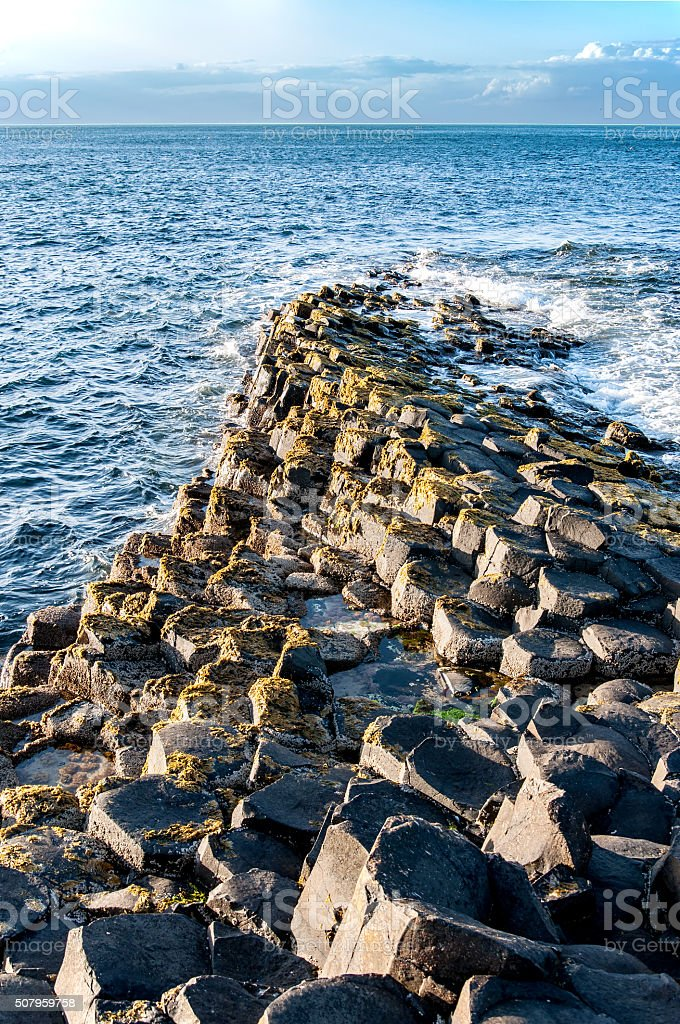 Giants Causeway in Northern Ireland stock photo