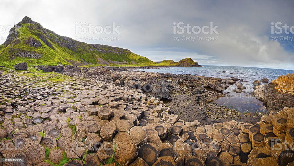 Giant's Causeway Panorama royalty-free stock photo
