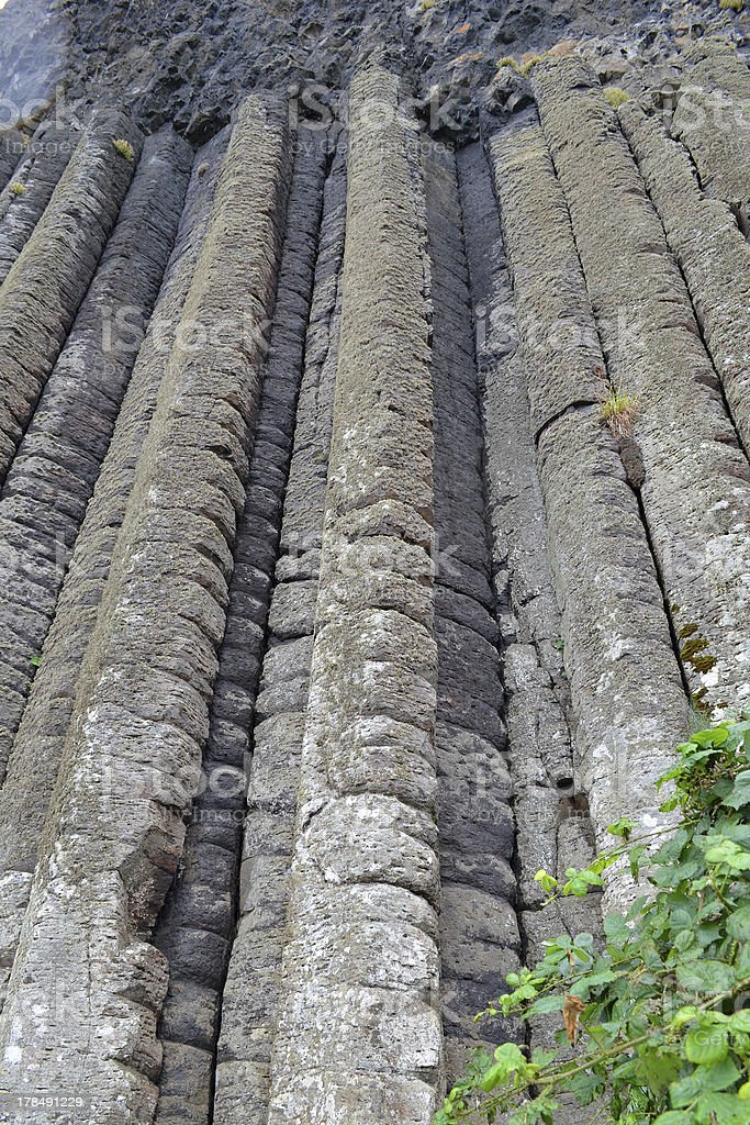 Giant's Organ Pipes at Giant's Casuseway, Northern Ireland royalty-free stock photo