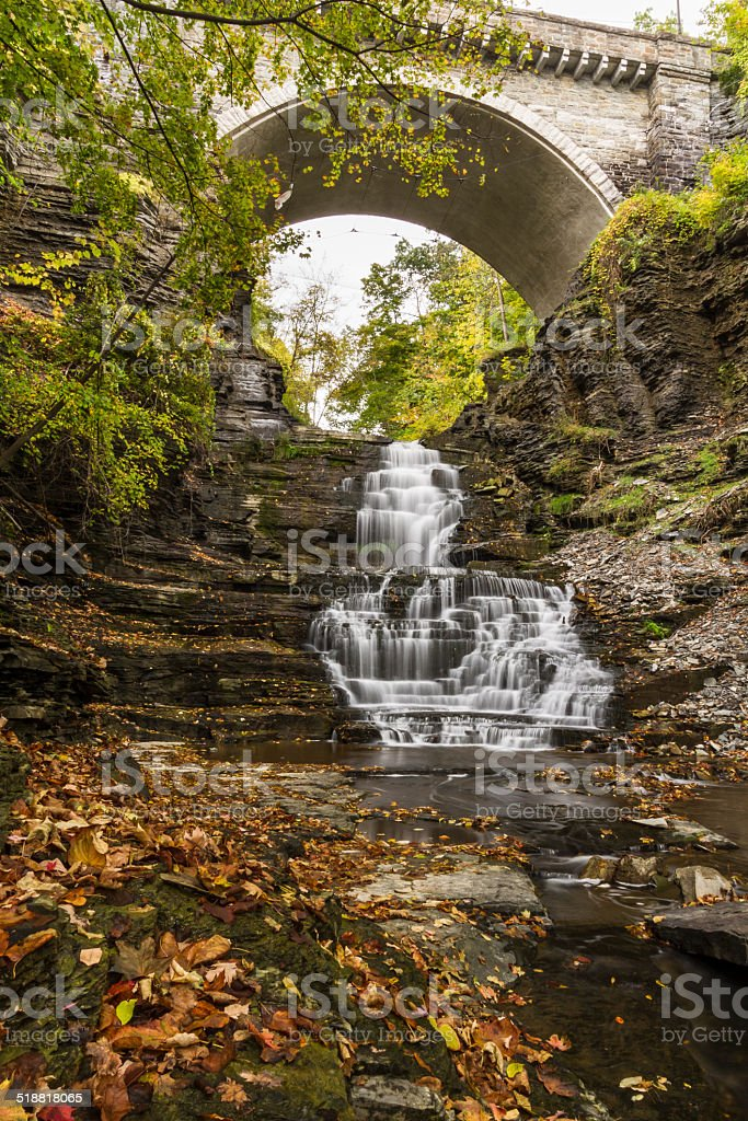 Giant's Staircase and Cornell Stone Arch stock photo