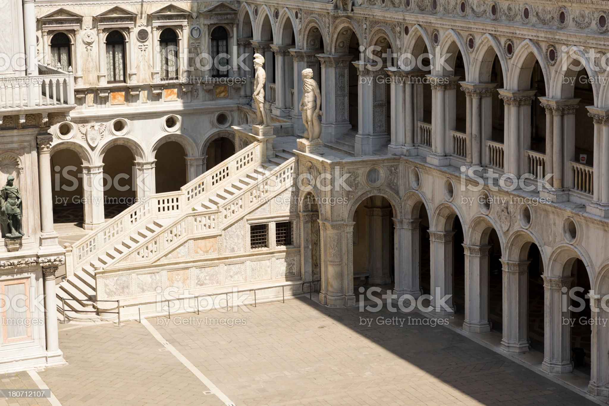 Giants€™ Staircase, Doge's Palace, Venice, Italy royalty-free stock photo