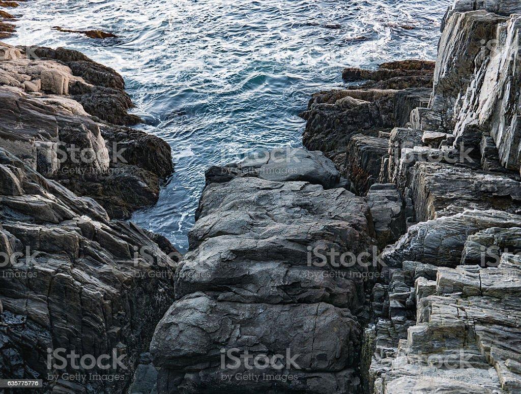 Giant's Stairs, Bailey Island, Maine stock photo