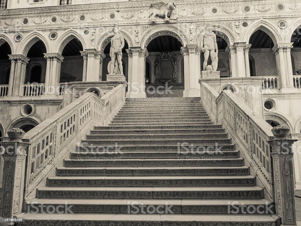 Giant's Stairway - Doge's Palace - Venice stock photo