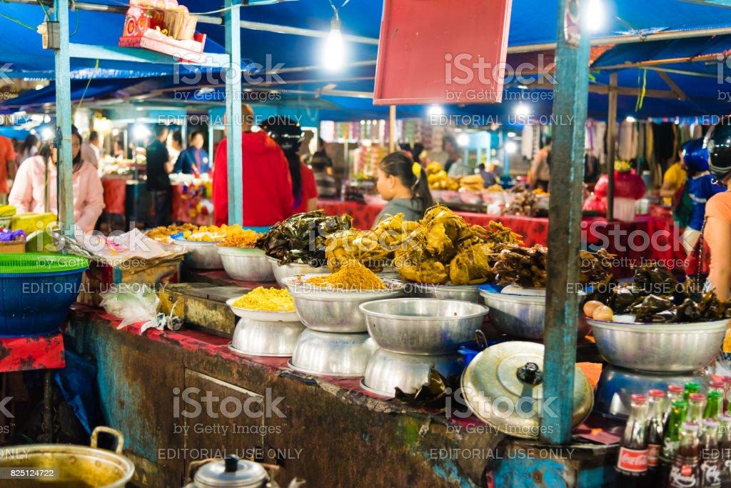 Gianyar Night Market in Gianyar province, Bali, Indonesia stock photo