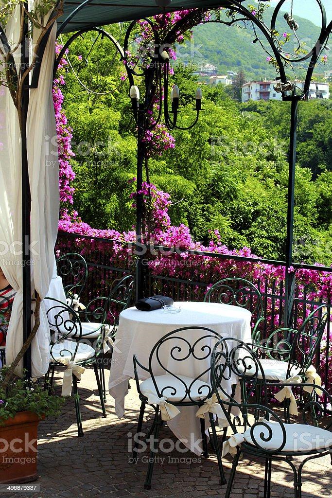 giardino mediterraneo stock photo