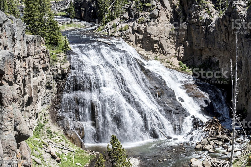 Gibbon Falls In Yellowstone National Parks royalty-free stock photo