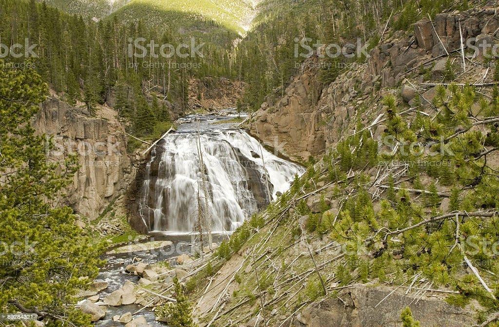 Gibbon River Fall - Yellowstone royalty-free stock photo