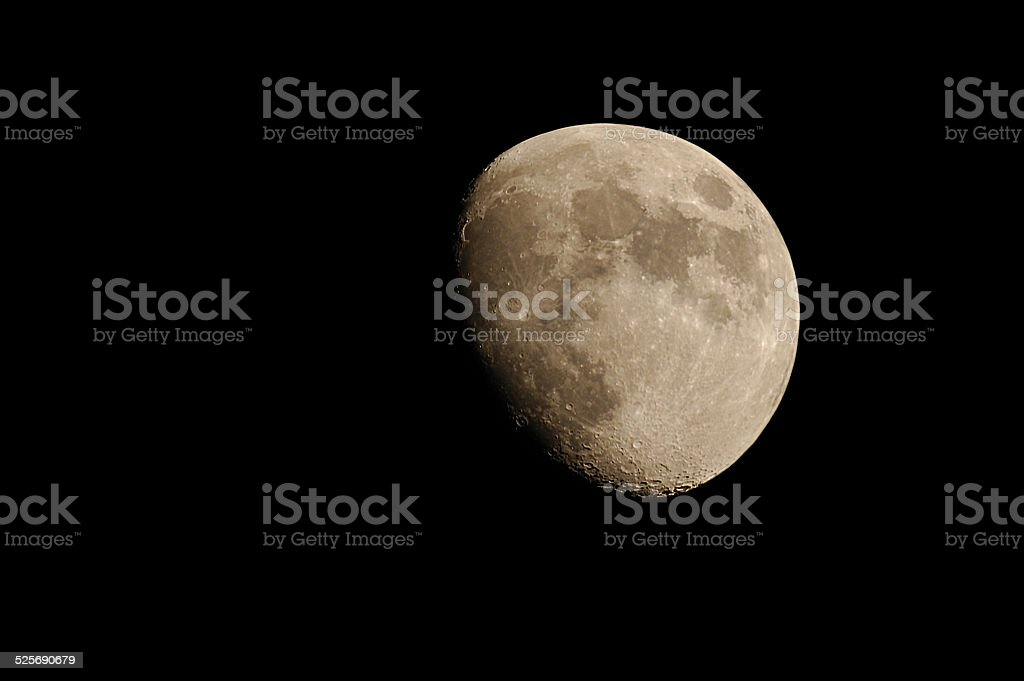 Gibbous moon stock photo
