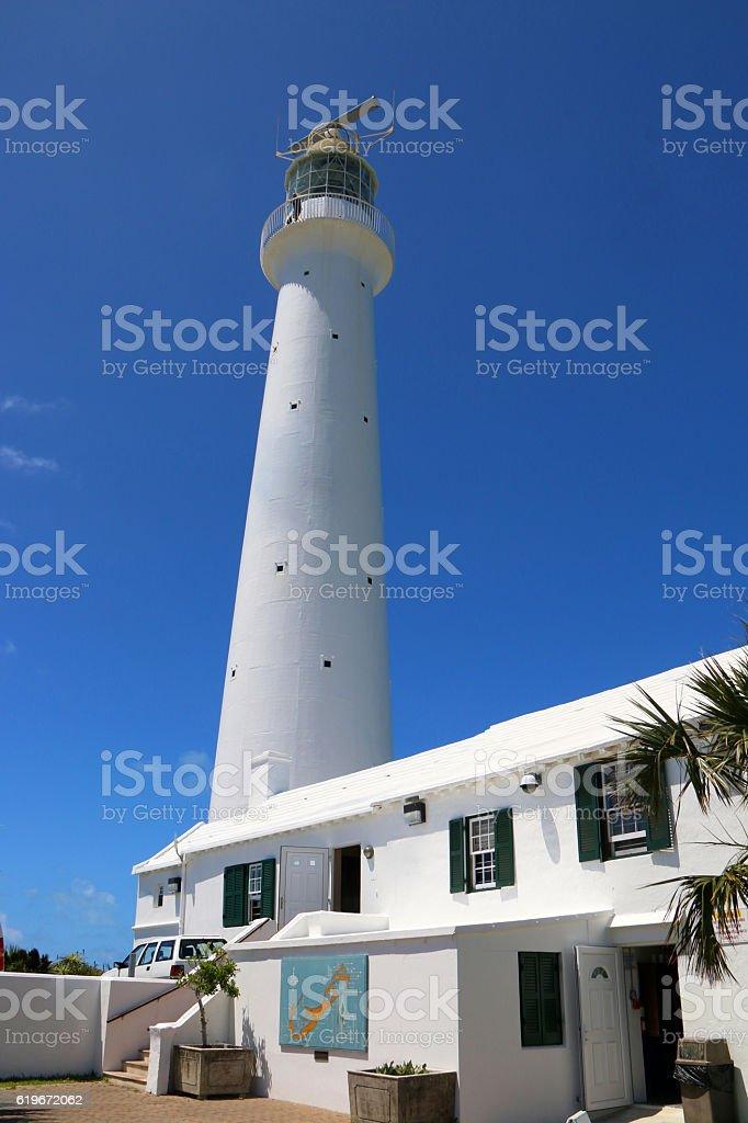 Gibbs Hill Lighthouse in Bermuda stock photo