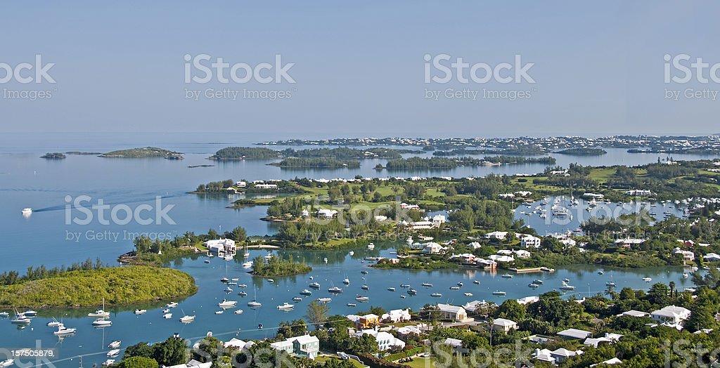 Gibbs Lighthouse View, Bermuda... Hamilton Harbor royalty-free stock photo