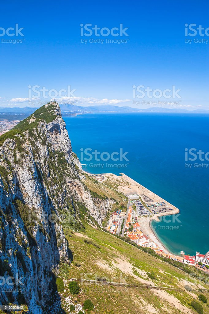 Gibraltar aerial view stock photo