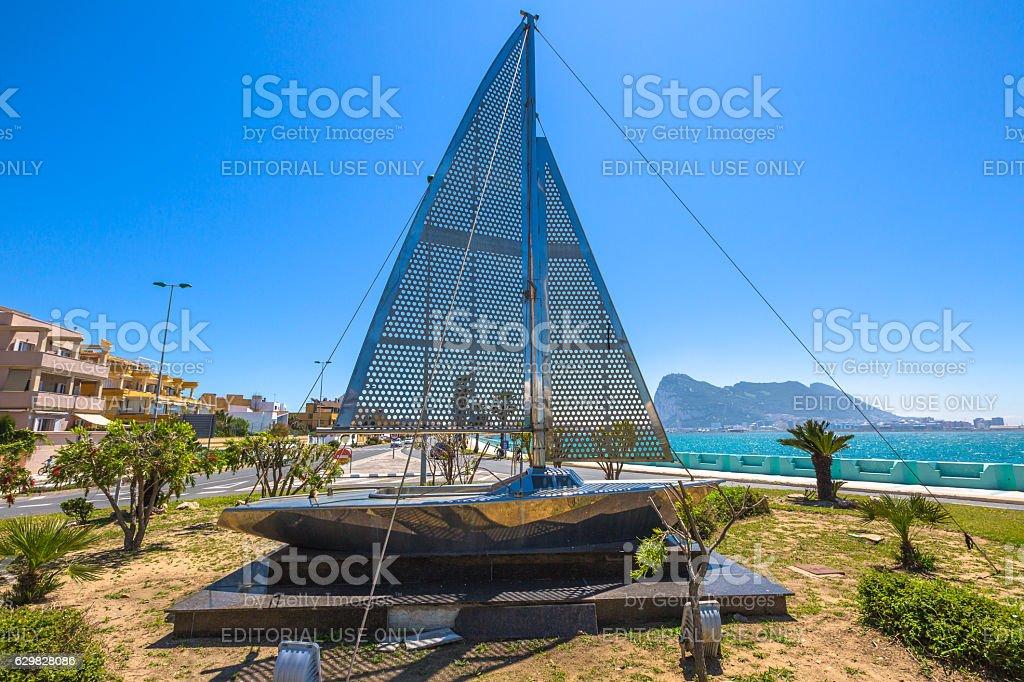 Gibraltar and the Spanish border stock photo