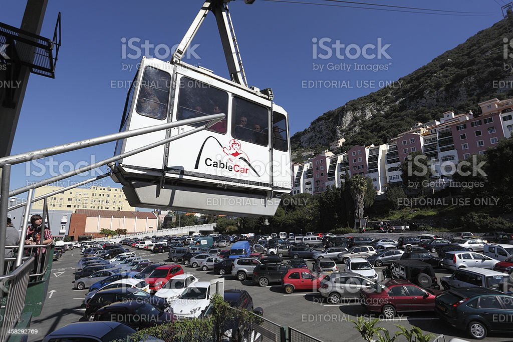 Gibraltar Cable Car royalty-free stock photo