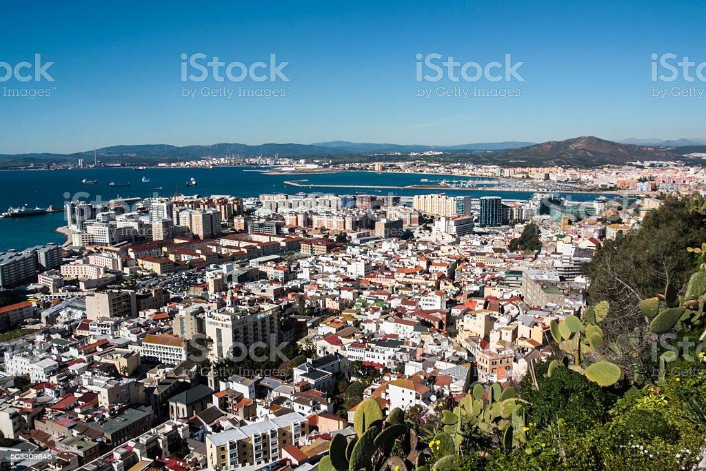 Gibraltar City stock photo