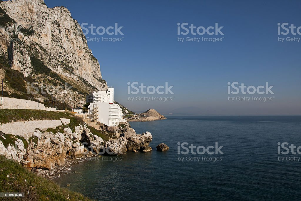 Gibraltar coast stock photo