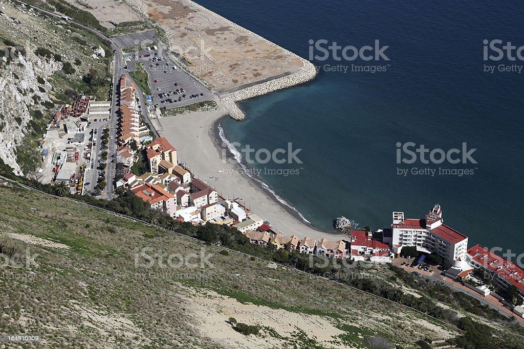 Gibraltar coast royalty-free stock photo