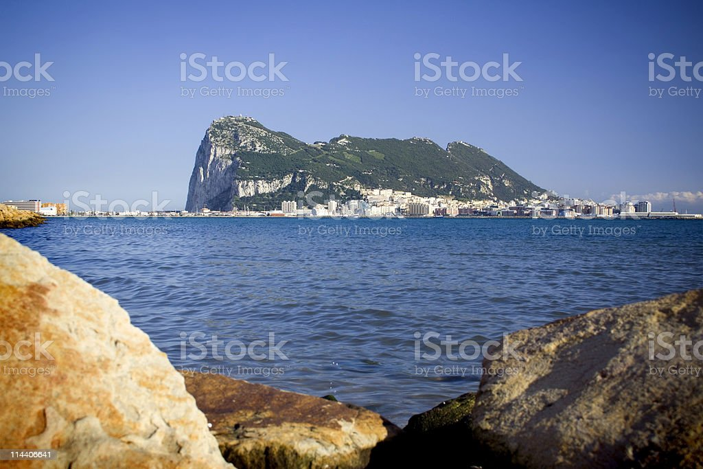 Gibraltar from the Bay royalty-free stock photo