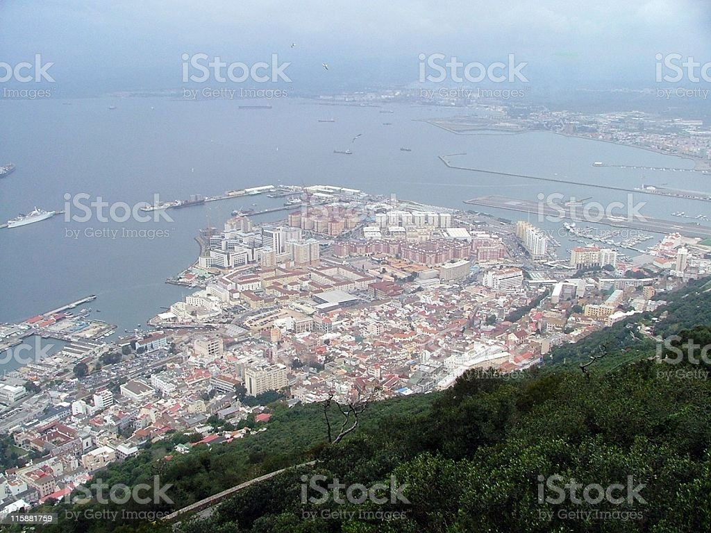 Gibraltar from the top of the Rock royalty-free stock photo