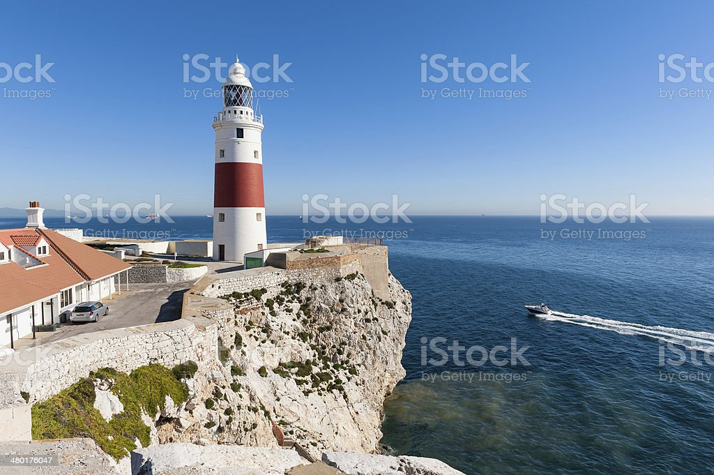 Gibraltar Lighthouse stock photo