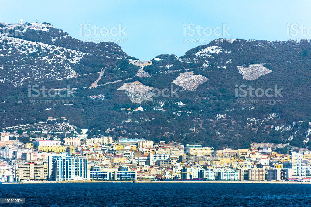 Gibraltar Waterfront stock photo
