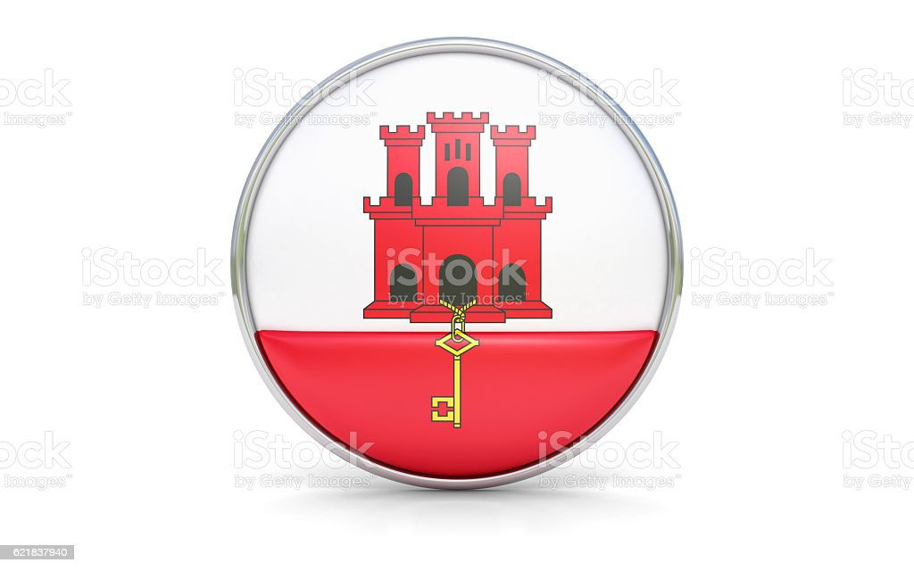 Gibraltarian flag stock photo