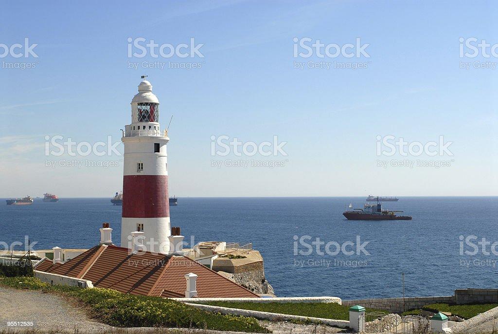Gibralter lighthouse. stock photo