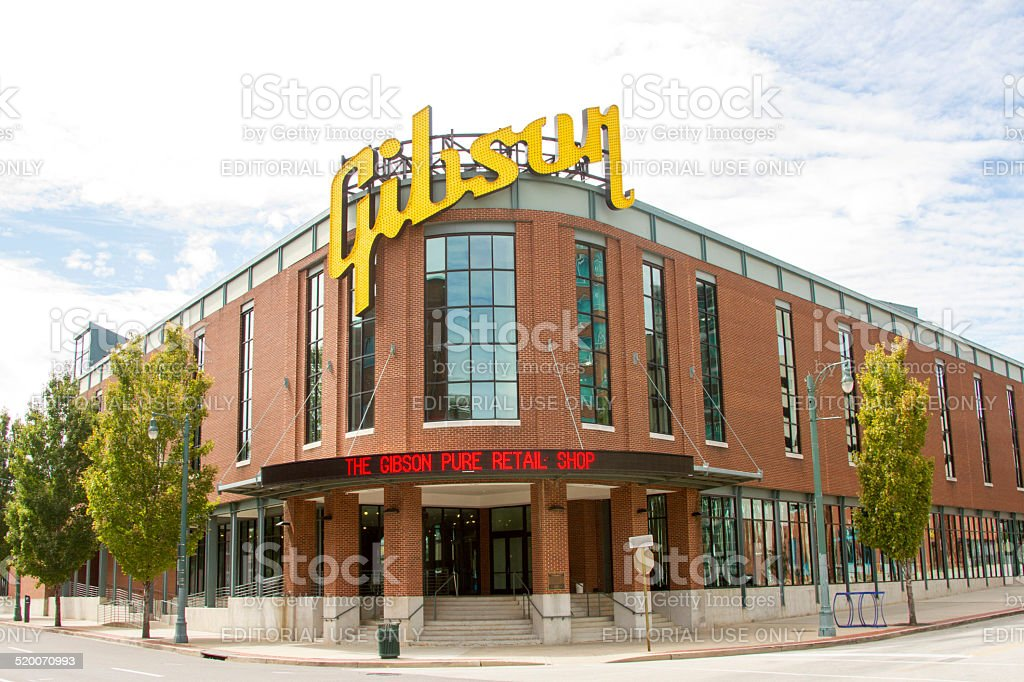 Gibson Guitar Factory, Memphis, TN stock photo