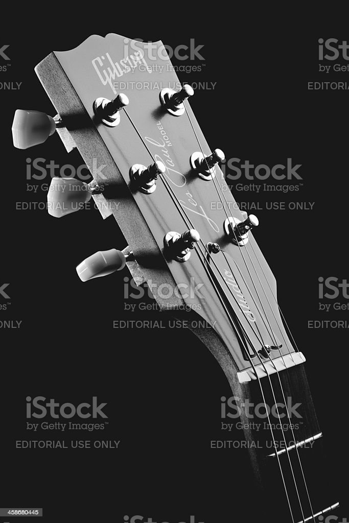 Gibson Les Paul Electric Guitar - Headstock stock photo
