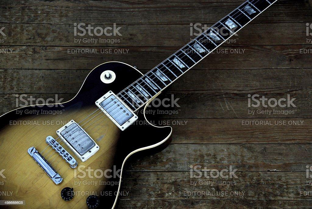 Gibson Les Paul Tobacco Sunburst Guitar stock photo