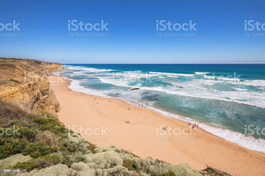 Gibson Steps beach, Great Ocean Road, Australia stock photo
