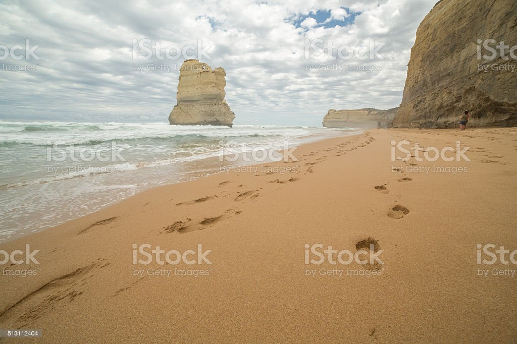 Gibson Steps beach in Port Campbell National Park stock photo