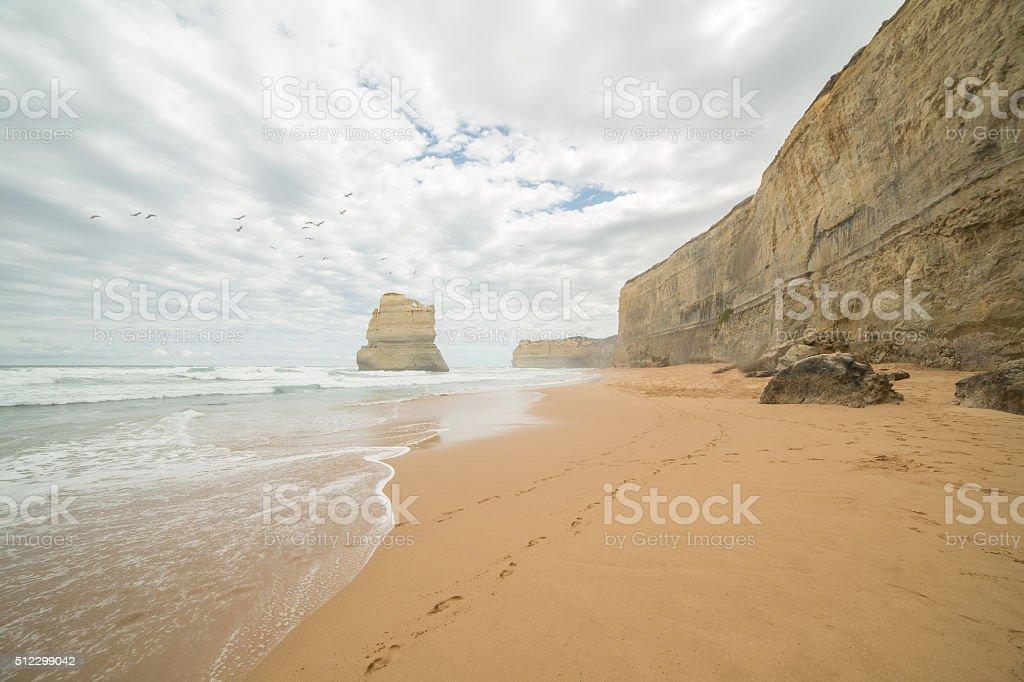 Gibson Steps beach stock photo