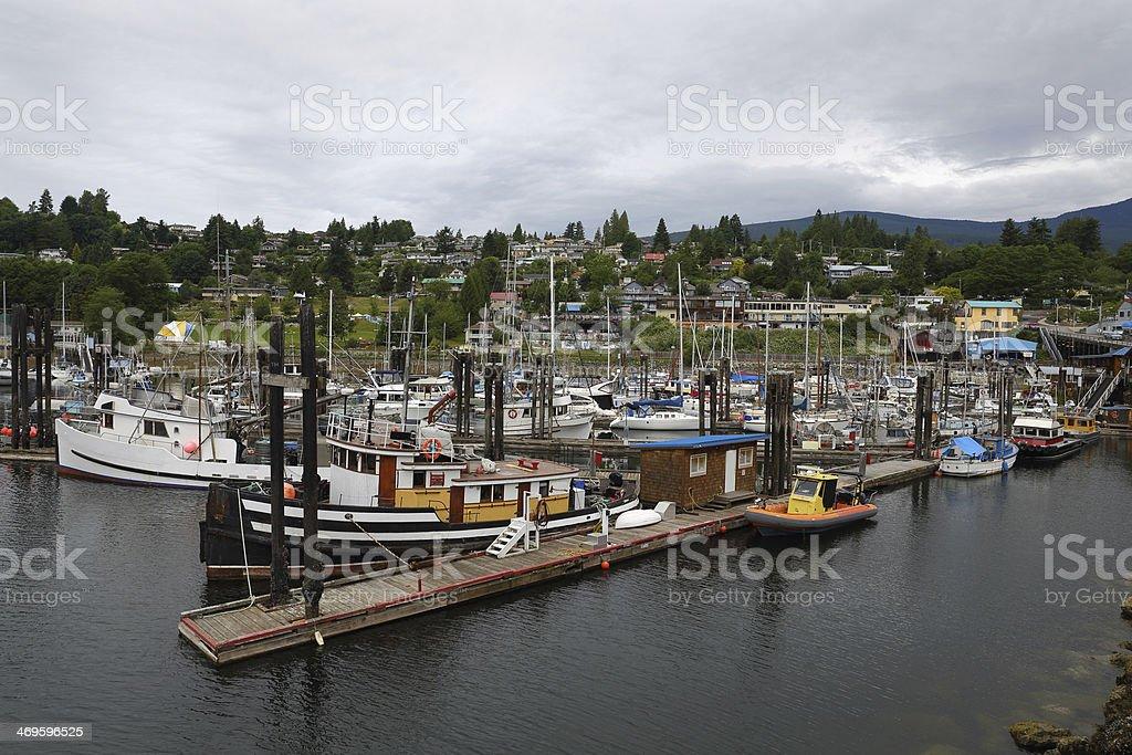 Gibsons Harbor Marina, British Columbia stock photo