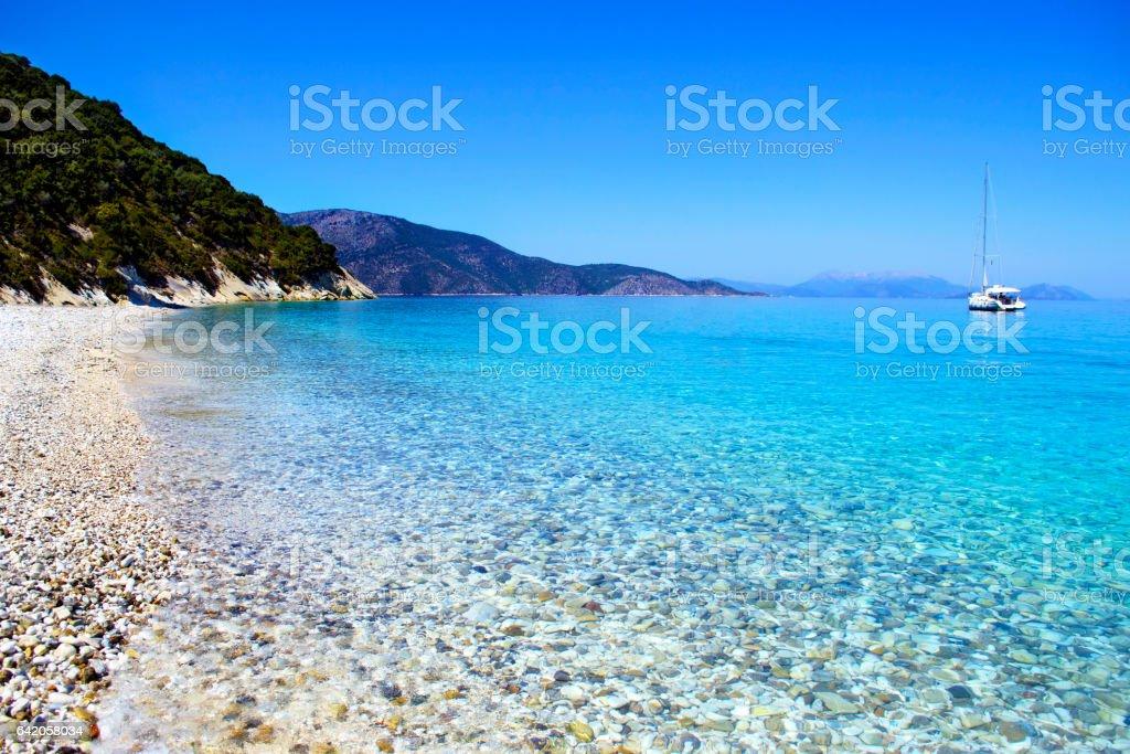 Gidaki beach at Ithaca Greece stock photo