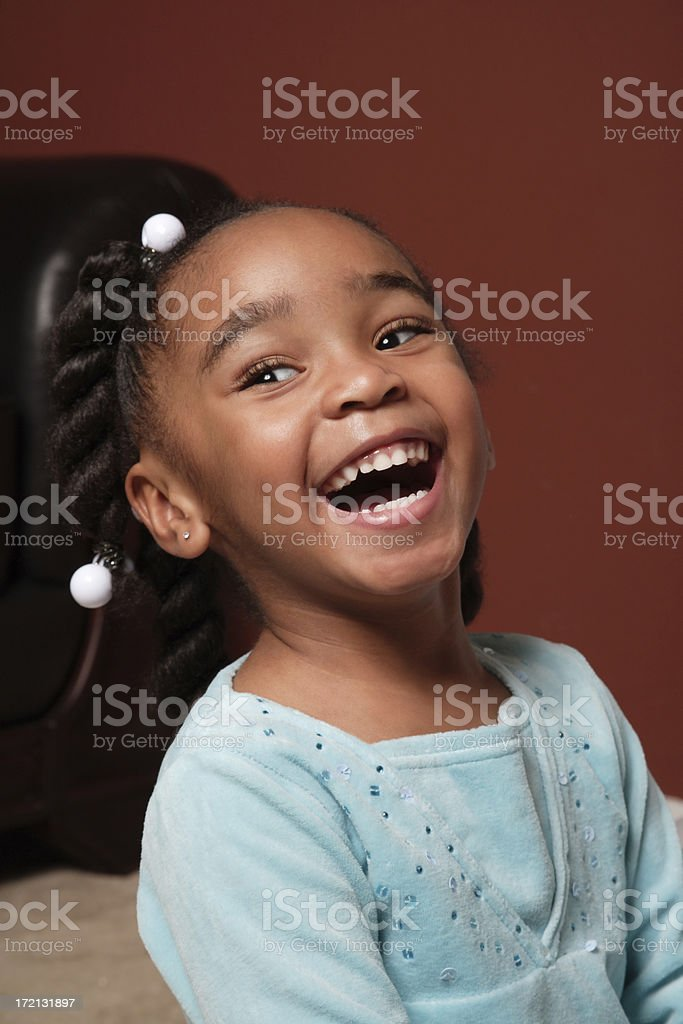 Giddy Laughing Little Girl royalty-free stock photo