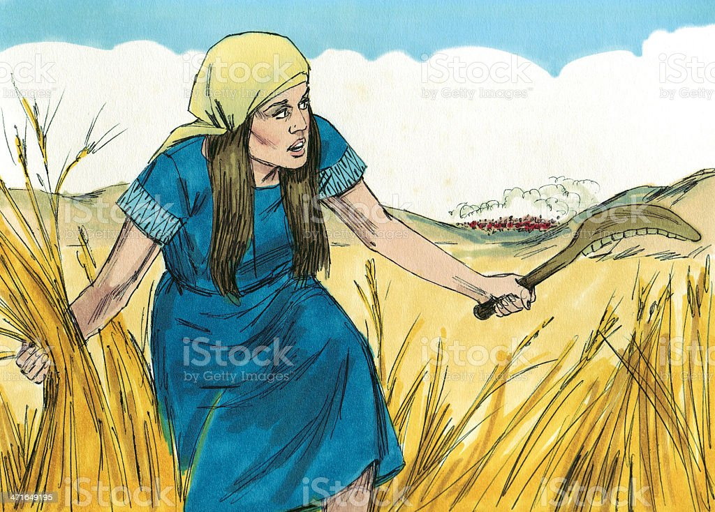 Gideon--Israelite Grain stock photo