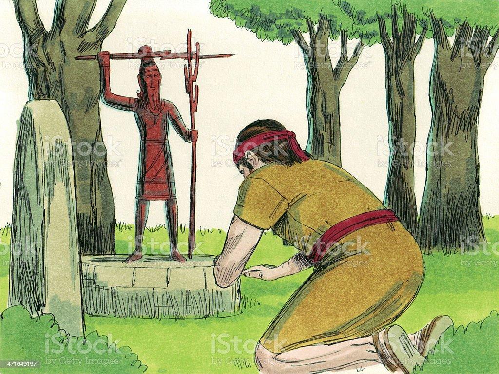 Gideon--Israelite Worships Baal stock photo