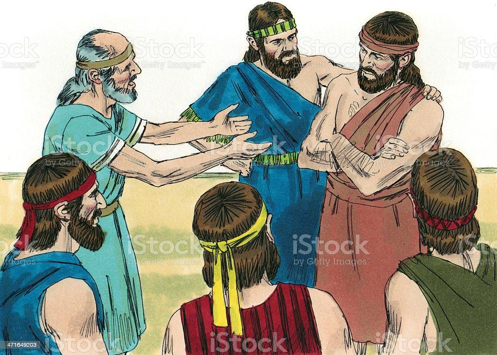 Gideon--Israelites Want Gideon to Rule stock photo